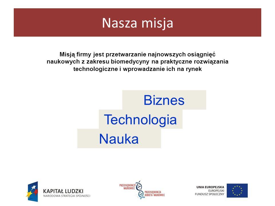 Nasza misja Biznes Technologia Nauka