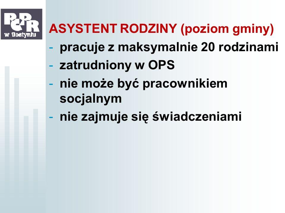 ASYSTENT RODZINY (poziom gminy)
