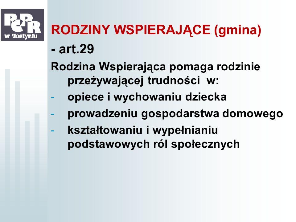 RODZINY WSPIERAJĄCE (gmina) - art.29