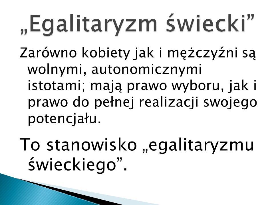 """""""Egalitaryzm świecki"""