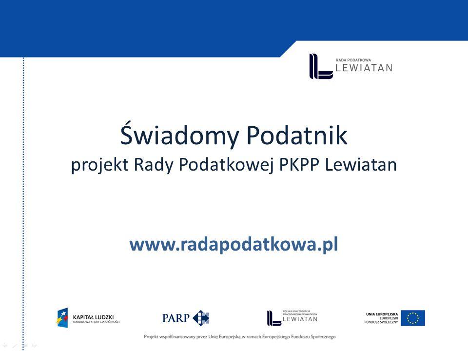 Świadomy Podatnik projekt Rady Podatkowej PKPP Lewiatan