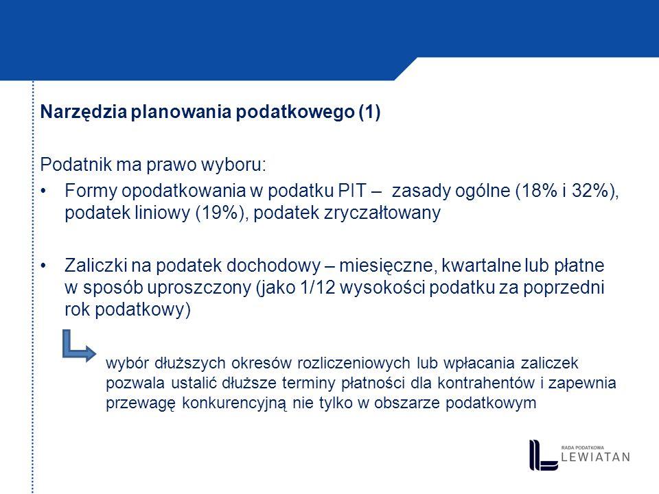 Narzędzia planowania podatkowego (1)