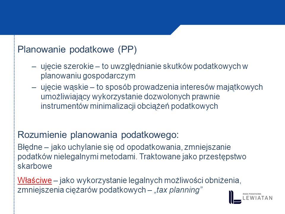 Planowanie podatkowe (PP)