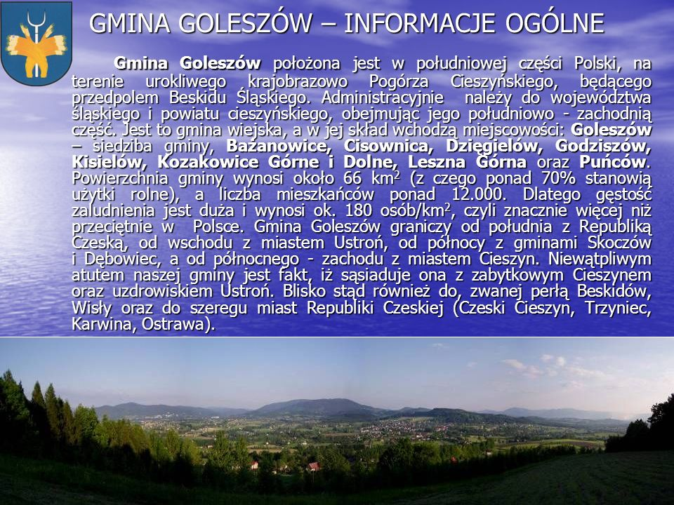 GMINA GOLESZÓW – INFORMACJE OGÓLNE