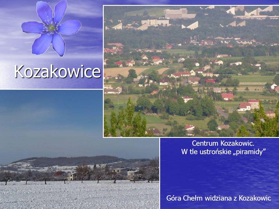 """Centrum Kozakowic. W tle ustrońskie """"piramidy"""