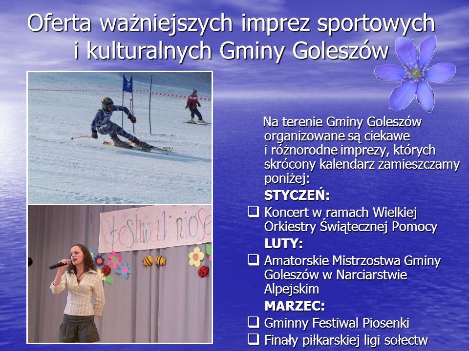 Oferta ważniejszych imprez sportowych i kulturalnych Gminy Goleszów