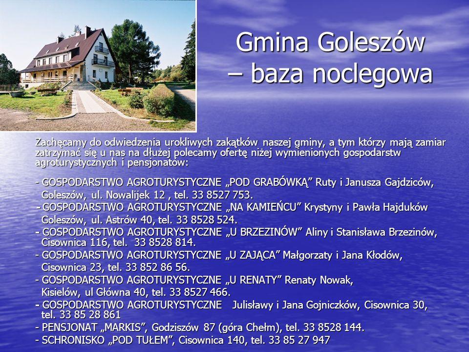 Gmina Goleszów – baza noclegowa