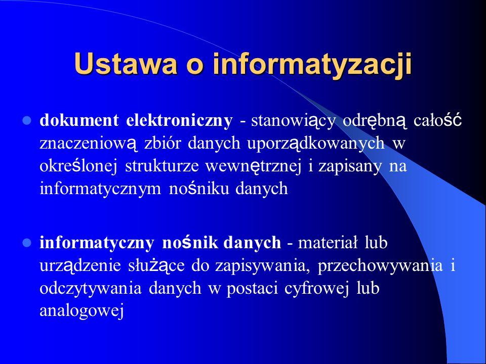 Ustawa o informatyzacji