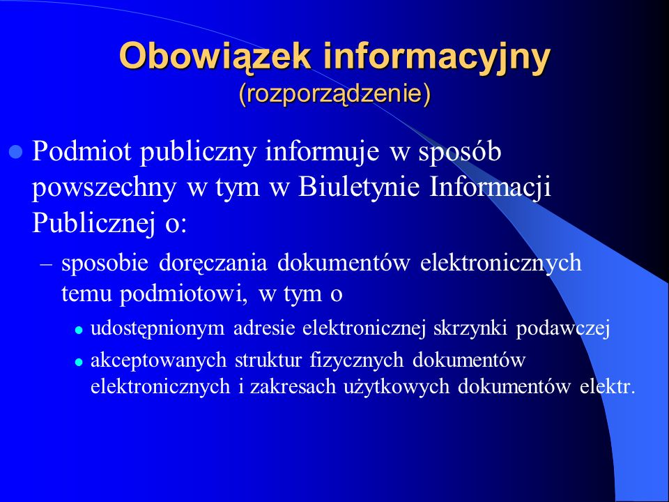 Obowiązek informacyjny (rozporządzenie)