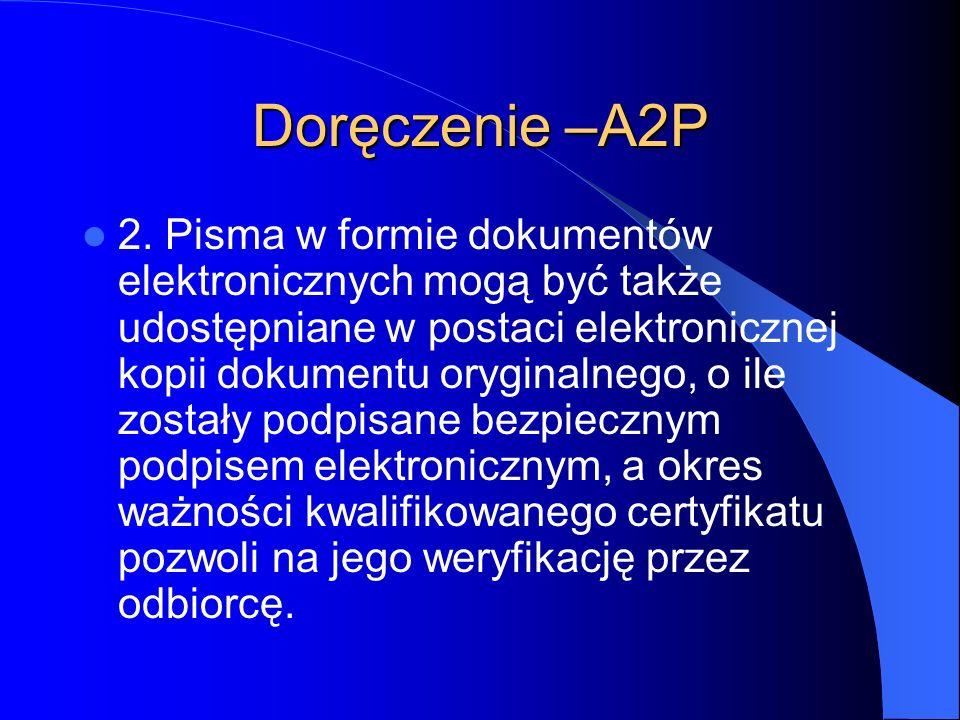Doręczenie –A2P