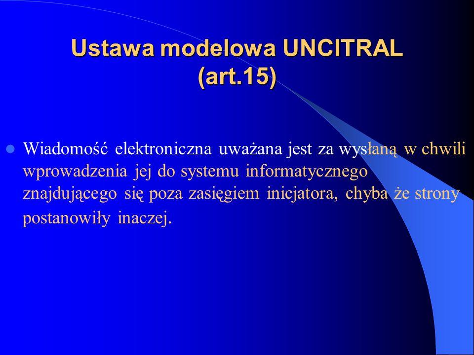 Ustawa modelowa UNCITRAL (art.15)