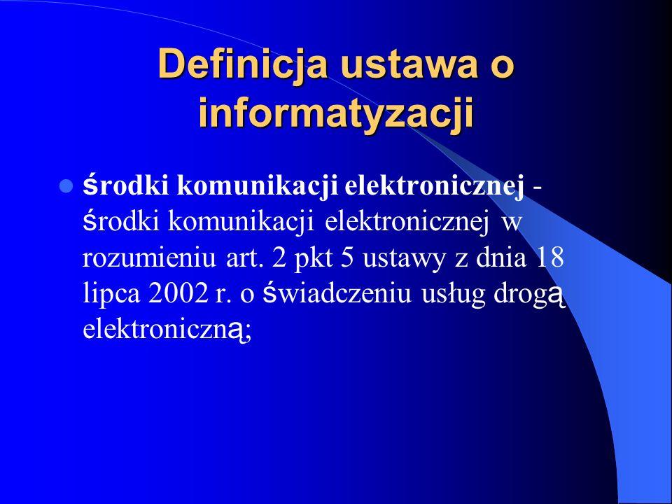 Definicja ustawa o informatyzacji