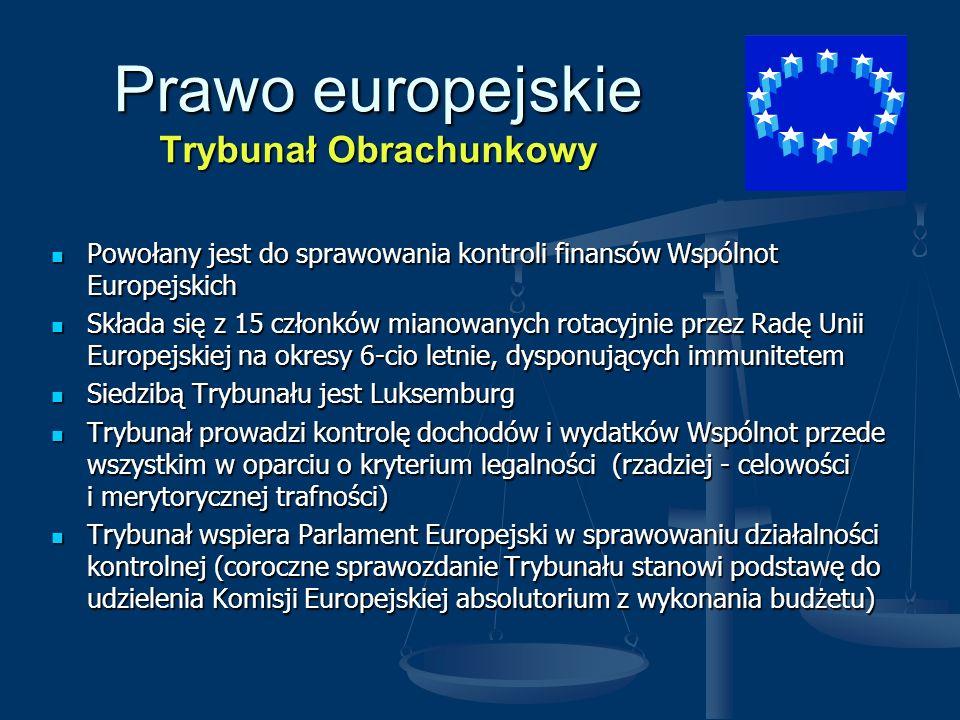 Prawo europejskie Trybunał Obrachunkowy
