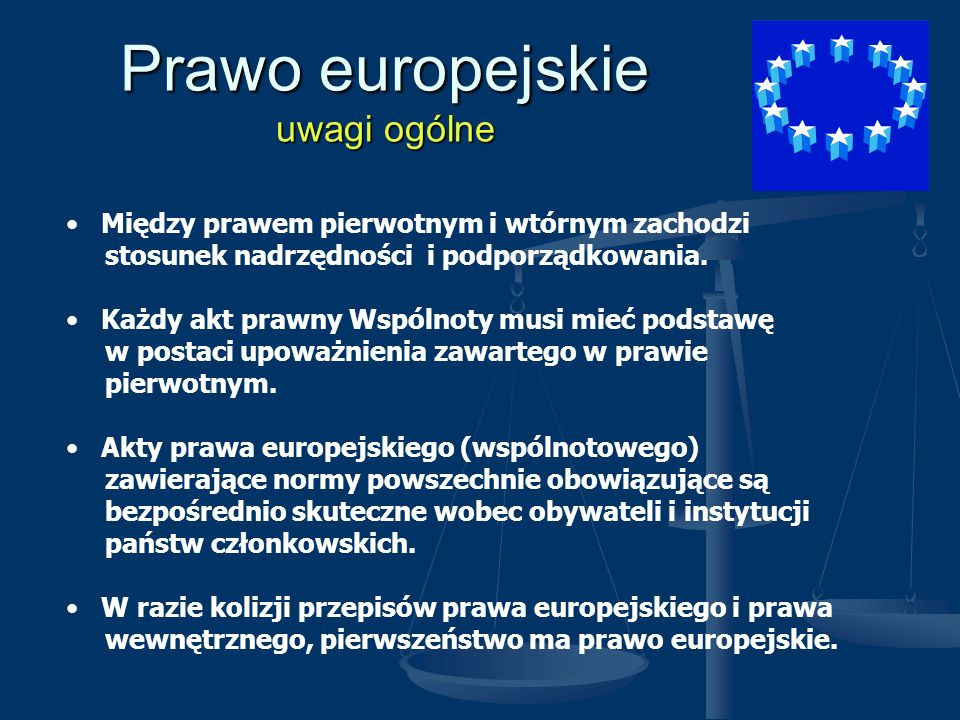 Prawo europejskie uwagi ogólne