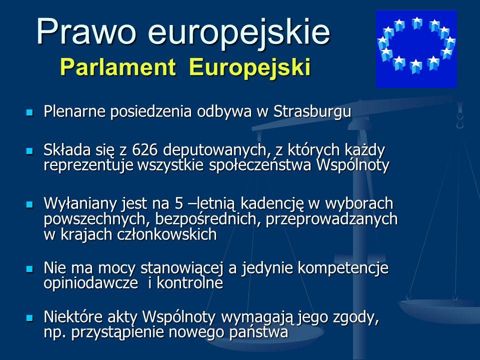 Prawo europejskie Parlament Europejski