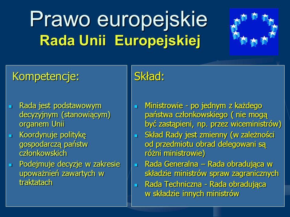 Prawo europejskie Rada Unii Europejskiej