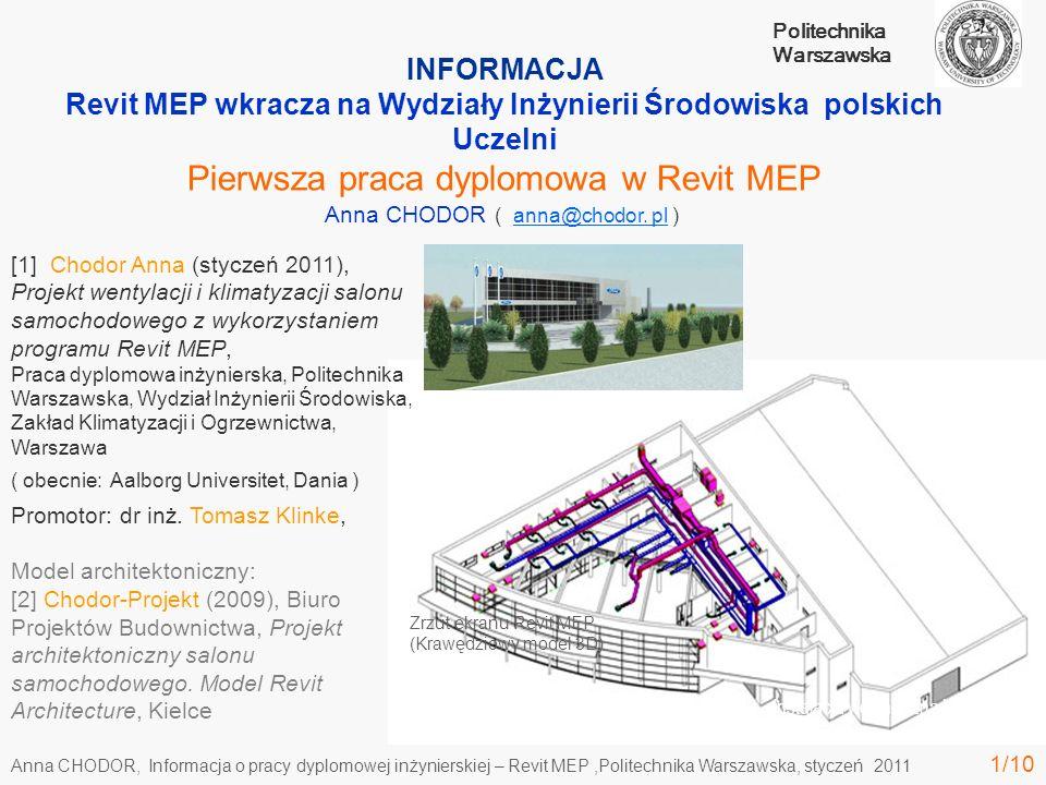 Revit MEP wkracza na Wydziały Inżynierii Środowiska polskich Uczelni