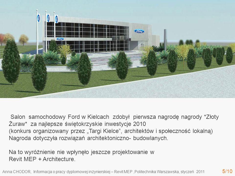 Nagroda dotyczyła rozwiązań architektoniczno- budowlanych.