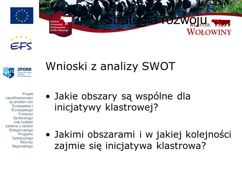 Strategia rozwoju Wnioski z analizy SWOT
