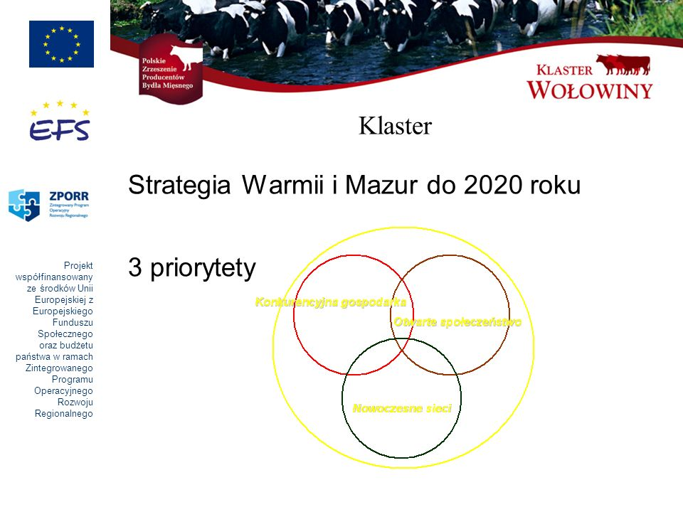 Klaster Strategia Warmii i Mazur do 2020 roku 3 priorytety