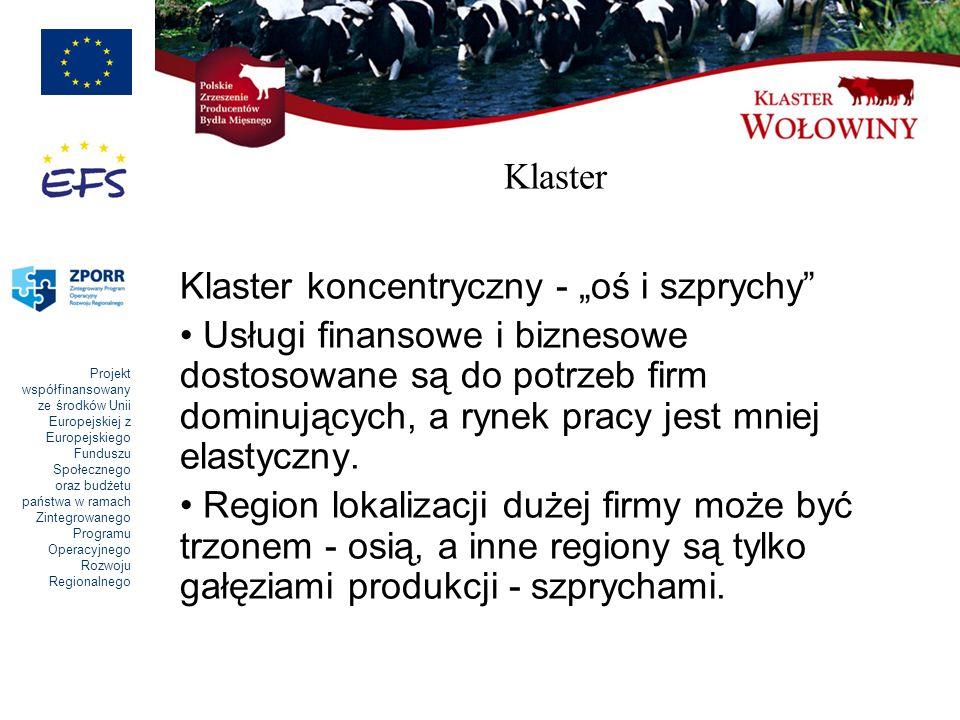"""Klaster Klaster koncentryczny - """"oś i szprychy"""