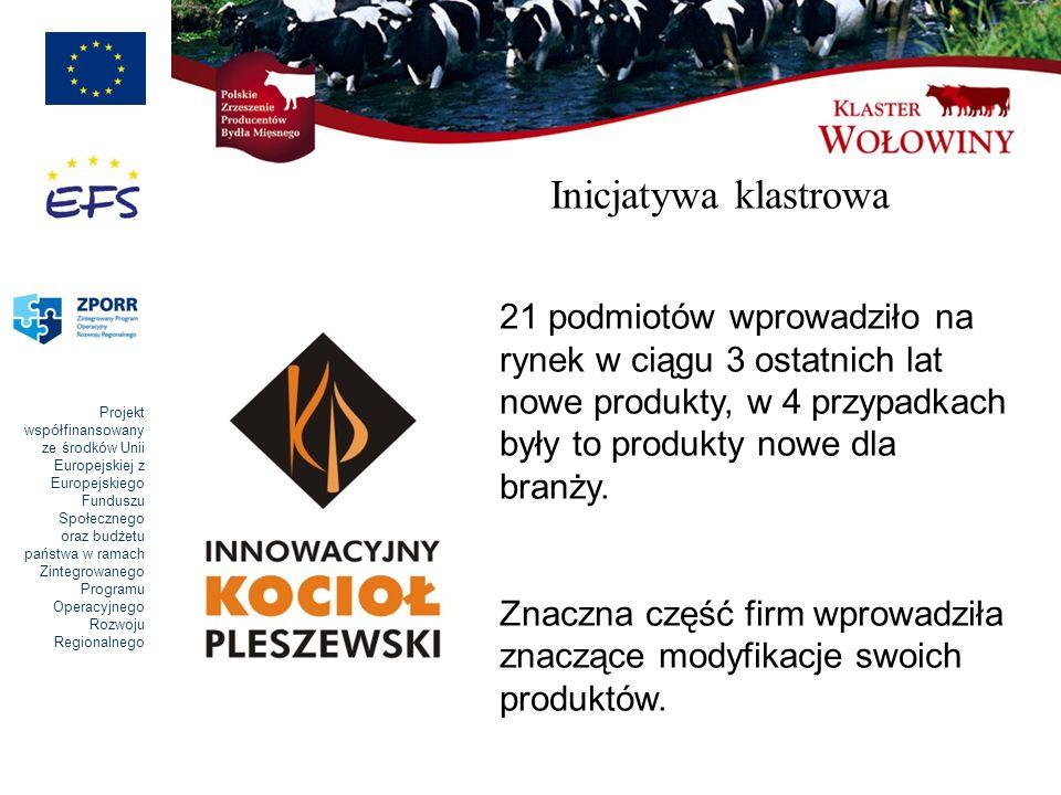 Inicjatywa klastrowa 21 podmiotów wprowadziło na rynek w ciągu 3 ostatnich lat nowe produkty, w 4 przypadkach były to produkty nowe dla branży.