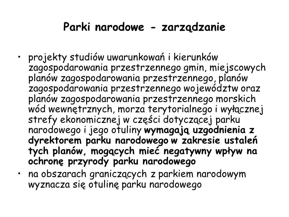 Parki narodowe - zarządzanie