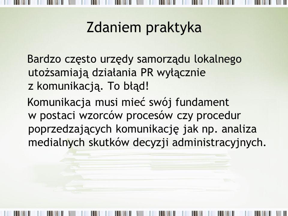Zdaniem praktyka Bardzo często urzędy samorządu lokalnego utożsamiają działania PR wyłącznie z komunikacją. To błąd!