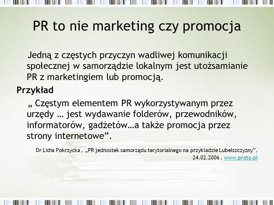PR to nie marketing czy promocja