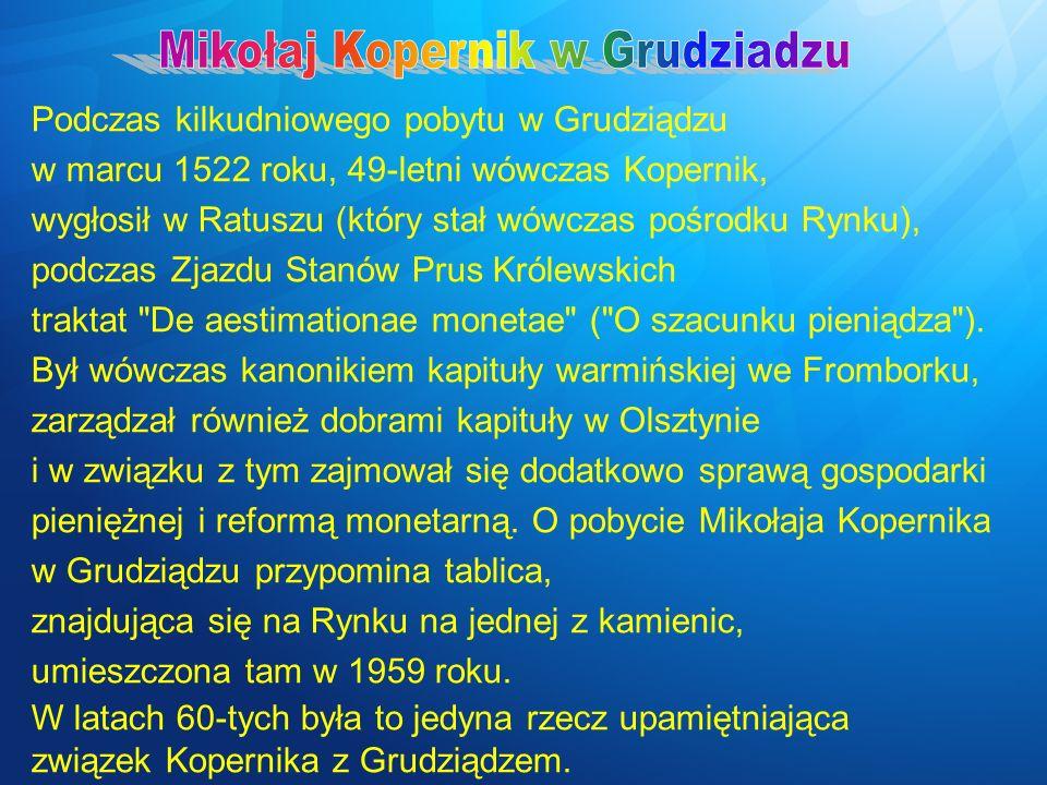 Mikołaj Kopernik w Grudziadzu