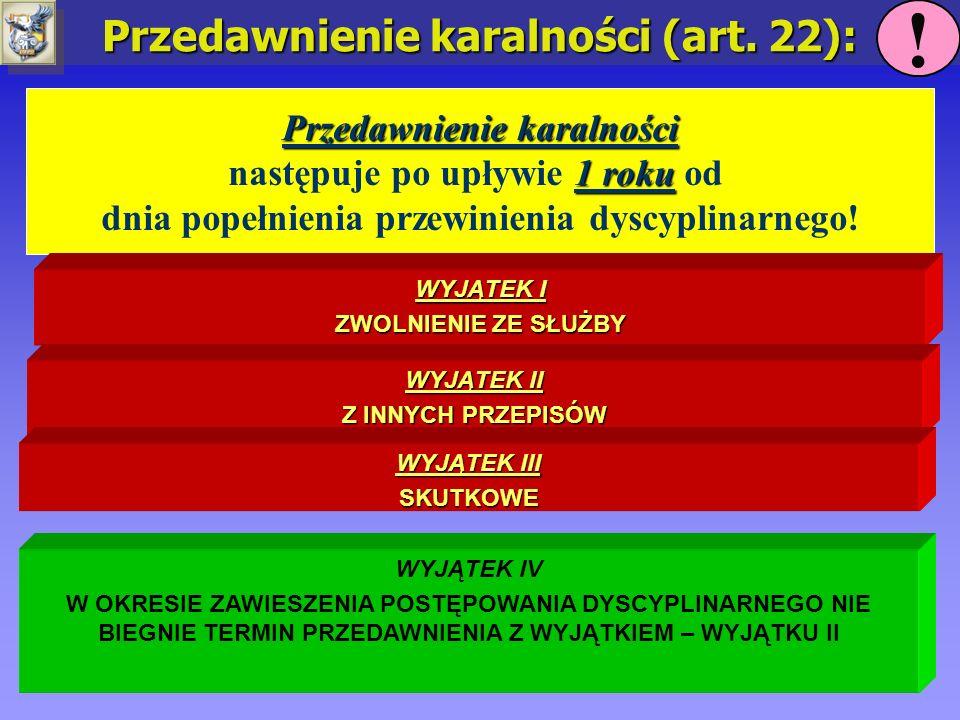Przedawnienie karalności (art. 22): Przedawnienie karalności