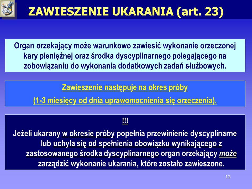 ZAWIESZENIE UKARANIA (art. 23)