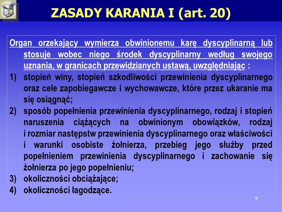 ZASADY KARANIA I (art. 20)