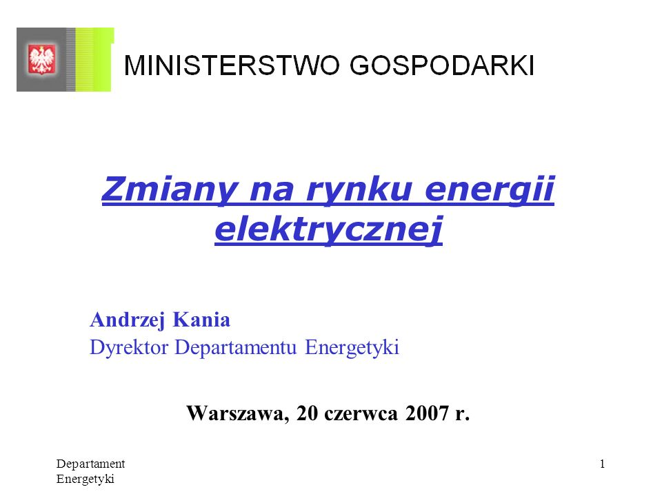 Zmiany na rynku energii elektrycznej