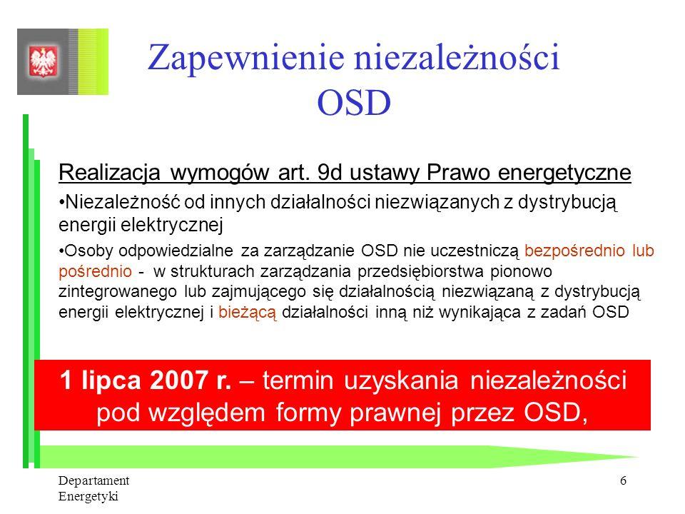 Zapewnienie niezależności OSD