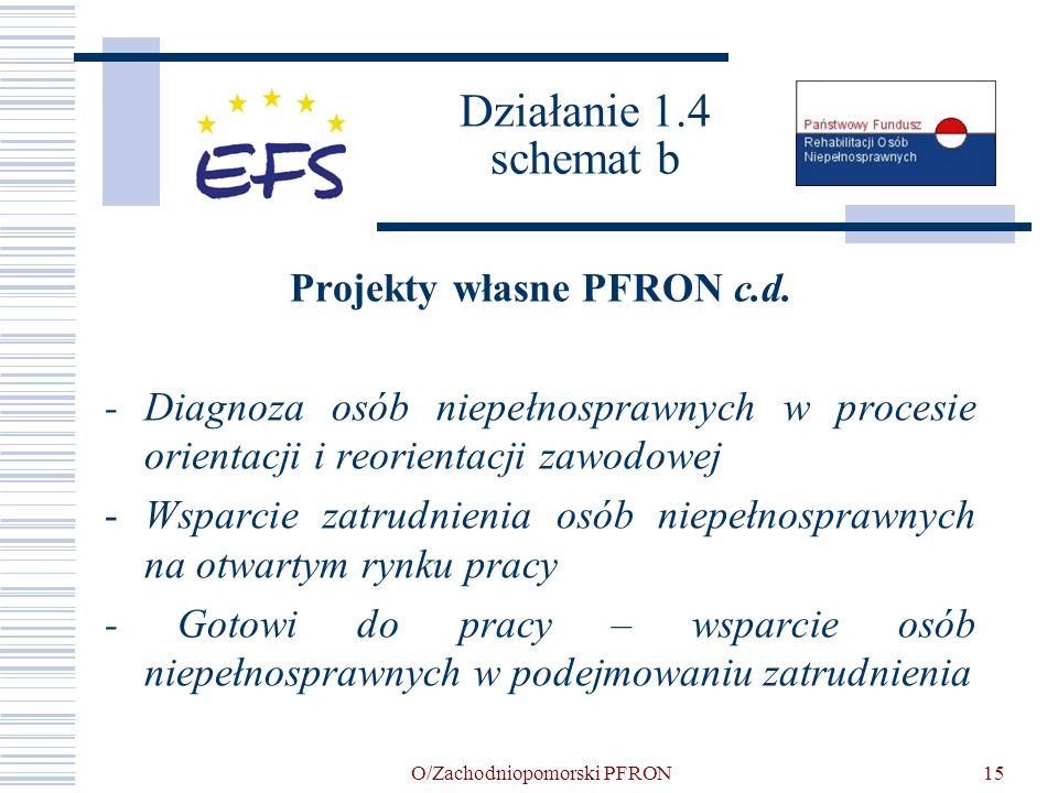 Działanie 1.4 schemat b Projekty własne PFRON c.d.