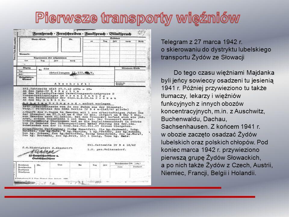 Pierwsze transporty więźniów