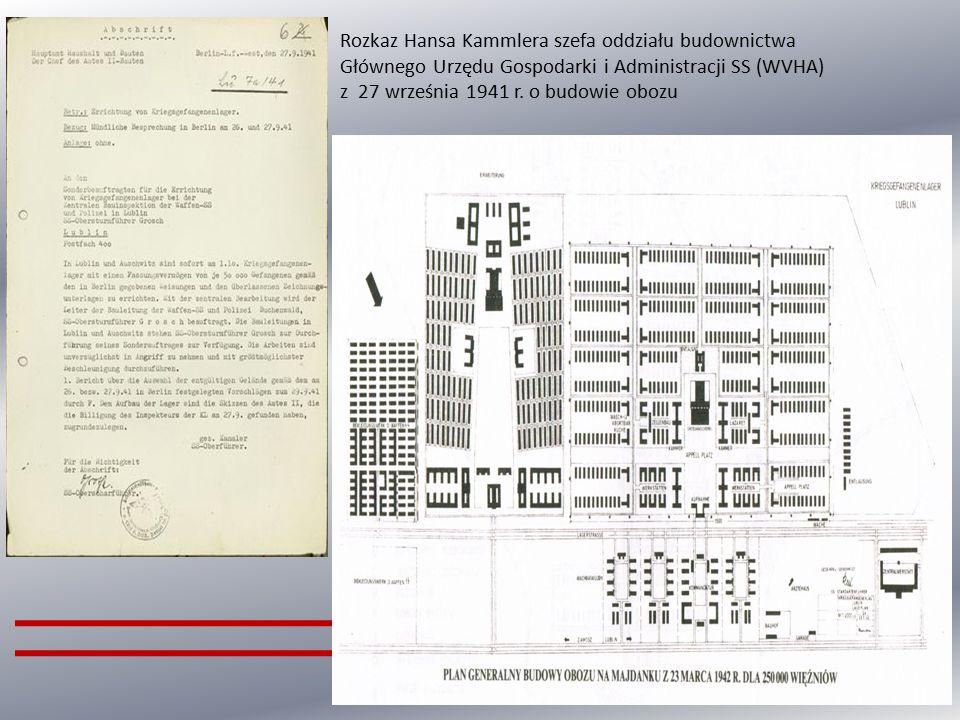 Rozkaz Hansa Kammlera szefa oddziału budownictwa