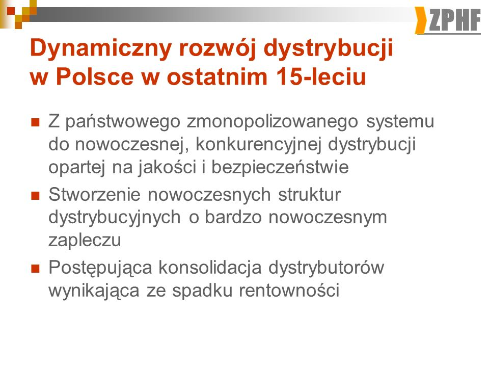 Dynamiczny rozwój dystrybucji w Polsce w ostatnim 15-leciu