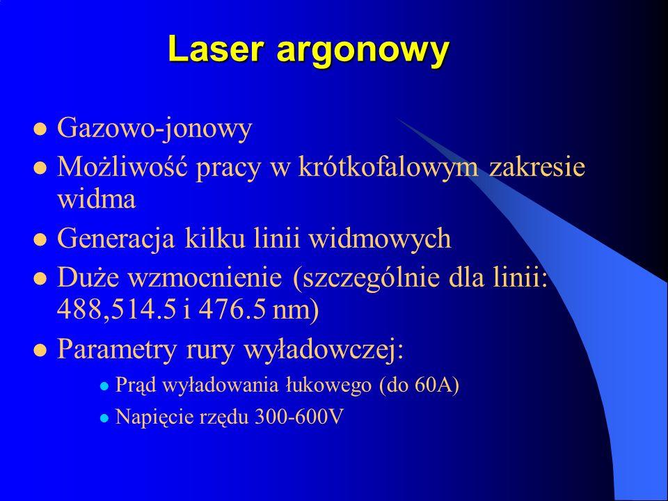 Laser argonowy Gazowo-jonowy