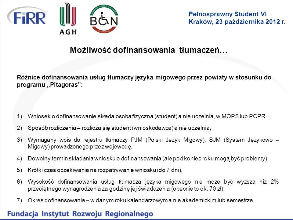 Możliwość dofinansowania tłumaczeń…
