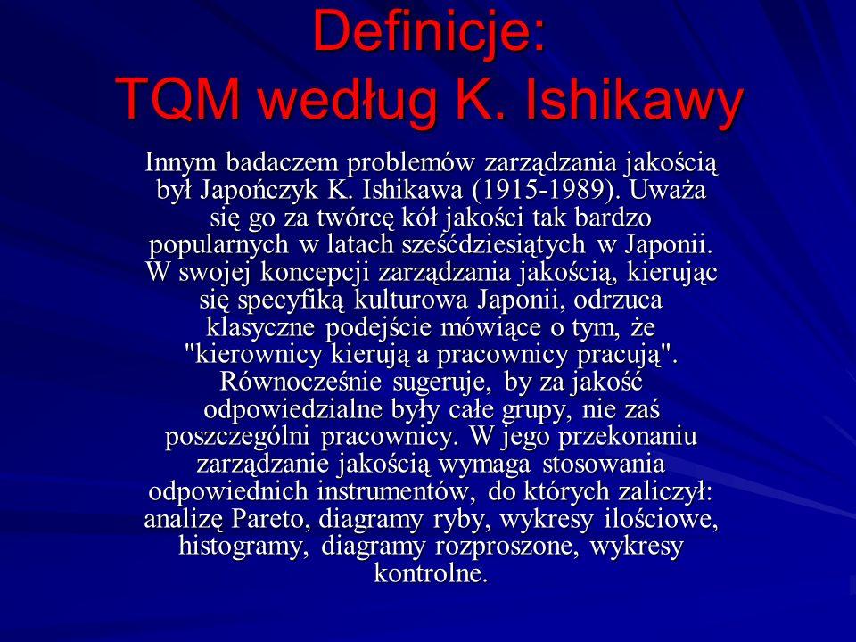 Definicje: TQM według K. Ishikawy