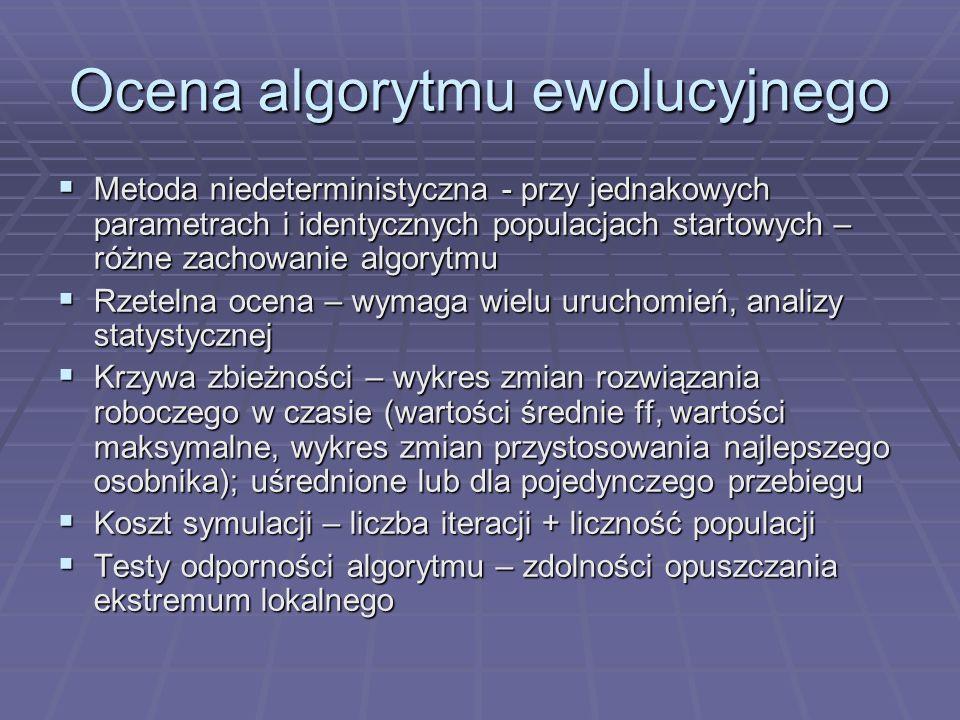 Ocena algorytmu ewolucyjnego