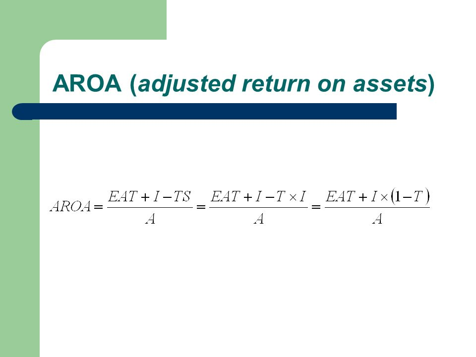 AROA (adjusted return on assets)