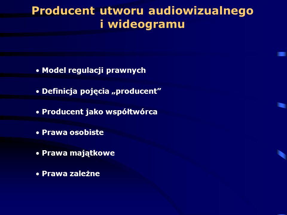 Producent utworu audiowizualnego i wideogramu