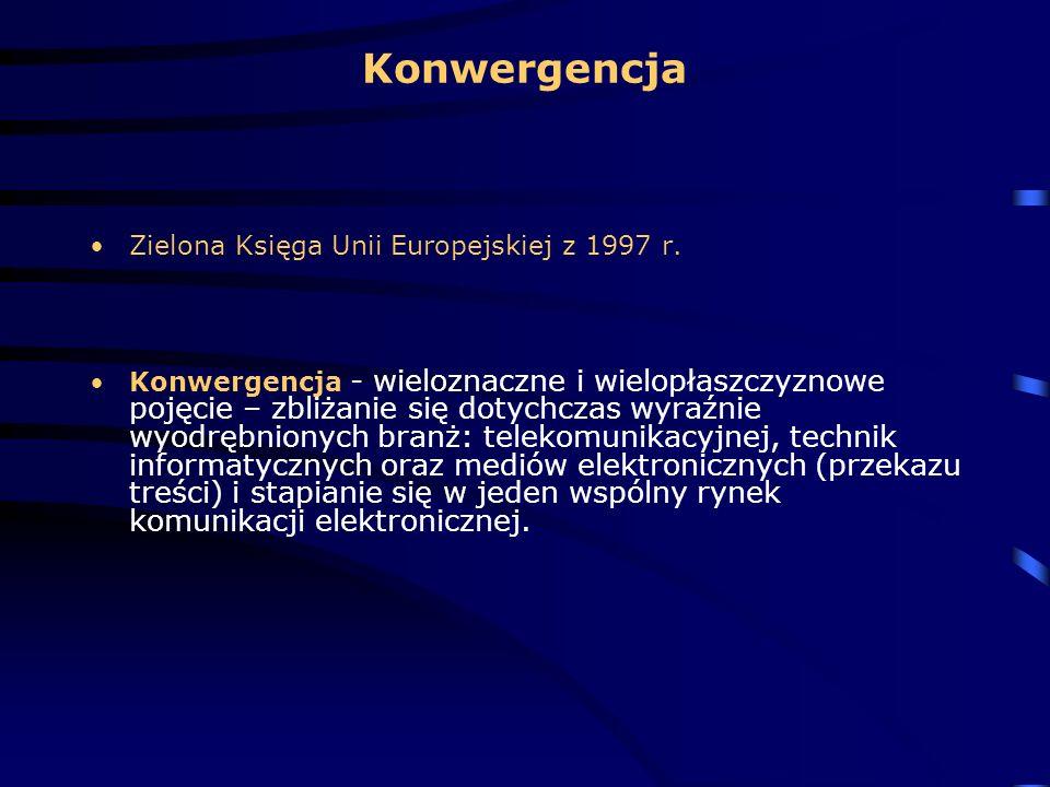 Konwergencja Zielona Księga Unii Europejskiej z 1997 r.