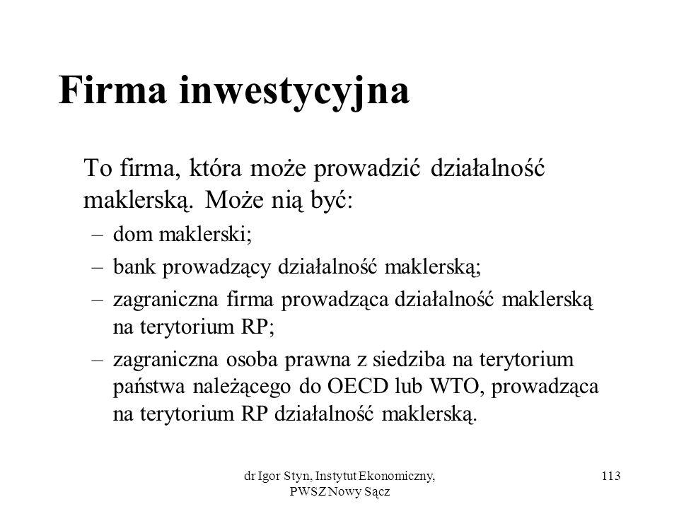 Rynek pieniężny i kapitałowy - konspekt wykładu
