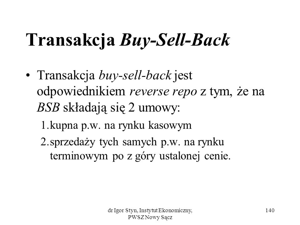 Transakcja Buy-Sell-Back