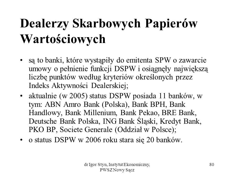 Dealerzy Skarbowych Papierów Wartościowych