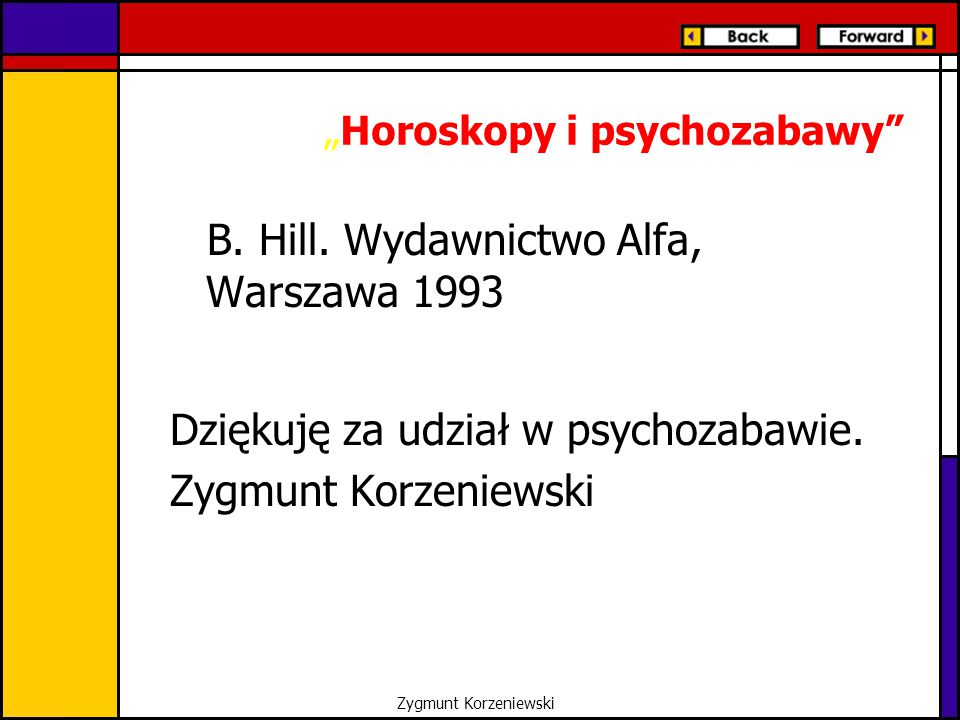 """Horoskopy i psychozabawy"